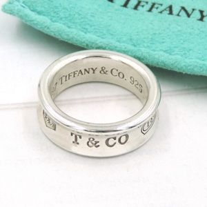 Tiffany Sterling Silver 1837 Ring